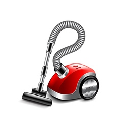 Vacuum cleaner isolated on white vector image