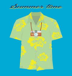 Vintage summer vecetion time background vector