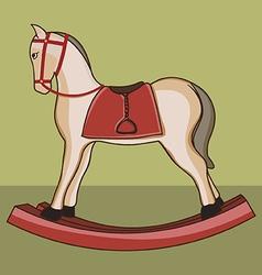 Wooden horse vector