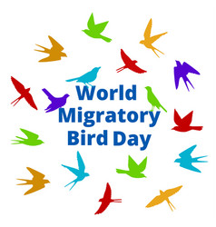 world migratory bird day vector image vector image