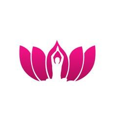 Yogi meditating vector image vector image