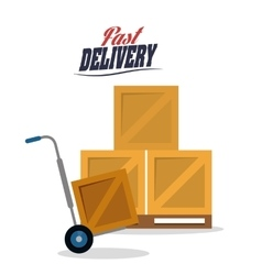 Cart box package delivery icon graphic vector
