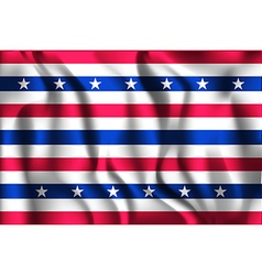 Stars and stripes flag rectangular shaped icon vector