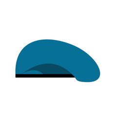 Beret military blue soldiers cap army hat war vector