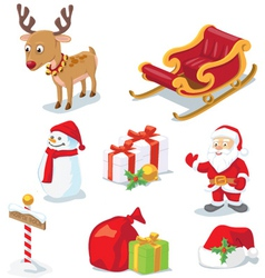 Christmas props vector