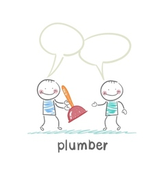 plumber says customer vector image