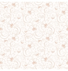 Vintage beige turkish floral seamless vector