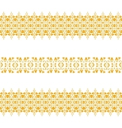 gold tribal seamless pattern vector image