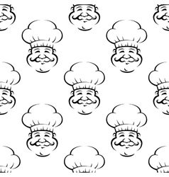 Smiling baker or chef seamless pattern vector