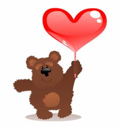 Teddy bear and heart vector
