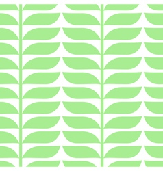 Pattern with geometric leaves vector
