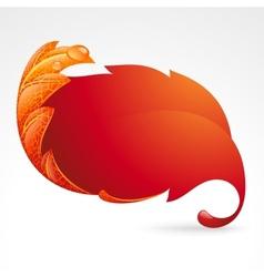 autumnal frame in the shape of fallen leaf vector image