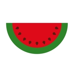 Delicious fruit watermelon isolated icon design vector