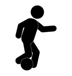 Football soccer pictogram icon vector