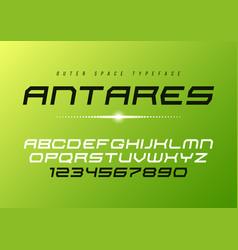 antares futuristic decorative italic font vector image