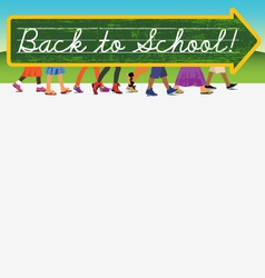 Back to school design with text space vector