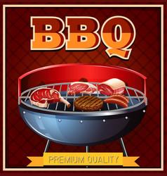 bbq beef on grill vector image vector image