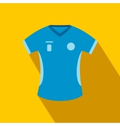 Blue baseball t-shirt flat icon vector