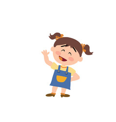 cartoon character girl greeting vector image vector image