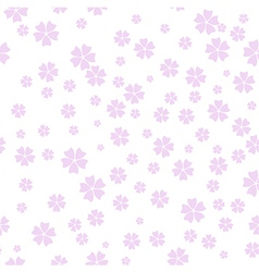 Cherry blossom pattern spring floral background vector