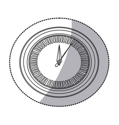 Figure round sticker clock icon vector