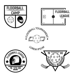 floorball logo for the team and the cup vector image