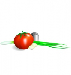 fresh vegetables vector image vector image