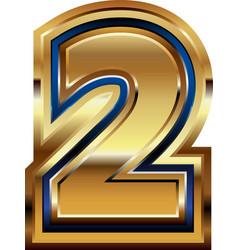 Gold number design vector