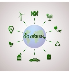Green planet info graphic vector image