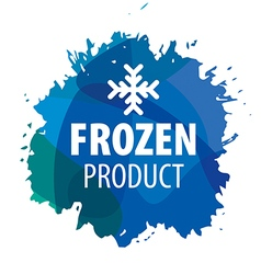 Logo with snowflake for the frozen products vector