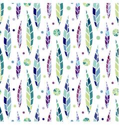 Modern seamless stylized leaf pattern bright vector