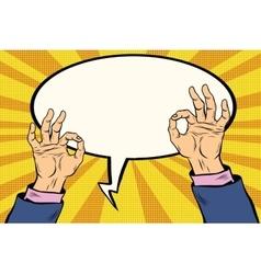 OK gesture hand okay vector image vector image