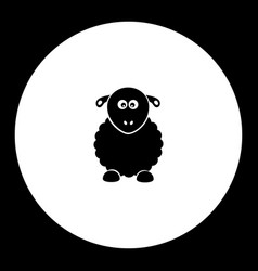 Sheep from farm simple silhouette black icon eps10 vector