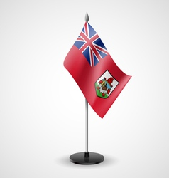 Table flag of bermuda vector