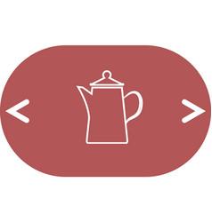 Teapot kettle on isolated vector