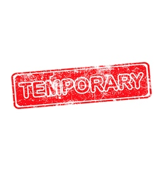 temporary red grunge rubber stamp vector image