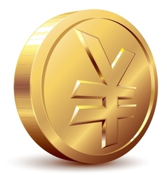 Yen coin vector image