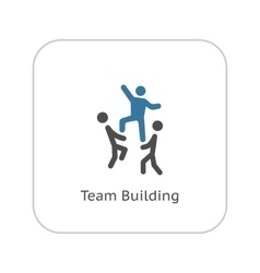 Team building concept icon flat design vector