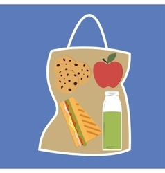 Lunchbox with lunch vector image