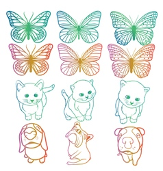 animals rainbow vector image