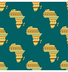 Africa continent seamless pattern vector image