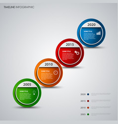 Time line info graphic with round design abstract vector