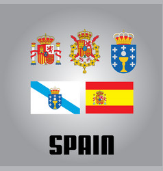 Official government elements of spain vector