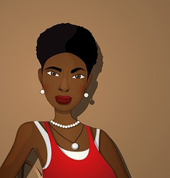 Beautiful black girl vector