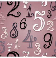 Seamless pattern with vintage numbers vector