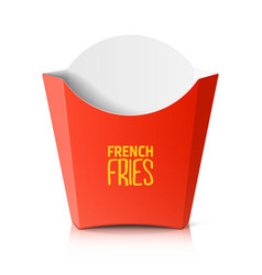 French fries paper box vector