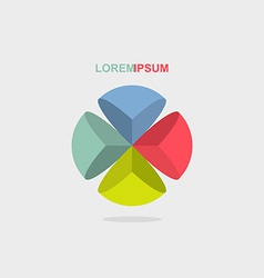 Logo sphere color segment vector