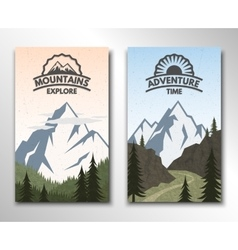 Two banners on the theme of tourism vector