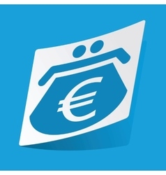 Euro purse sticker vector