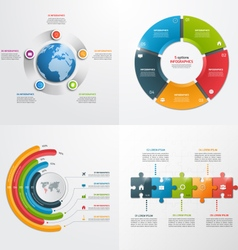 5 steps infographic templates Business concept vector image vector image